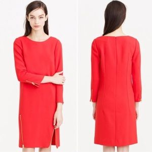 J. Crew Double Zipper Shift Dress